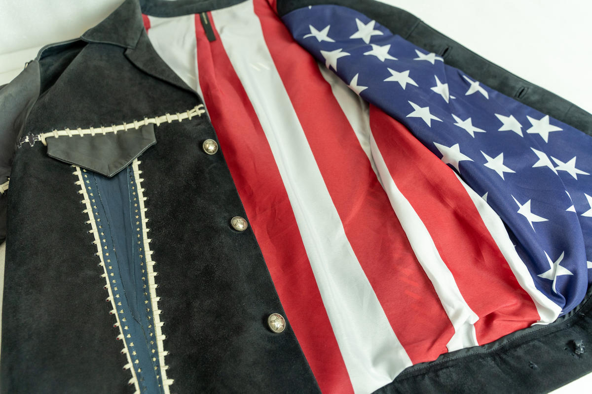 Bono of U2 Jacket, 2002. Design by Todd Lynn, Collection of U2. Bono wore this jacket during the band's performance at the Super Bowl XXXVI Halftime Show on February 2, 2002. The band played three songs and paid tribute to the victims of the September 11 attacks, which occurred in the US five months earlier.